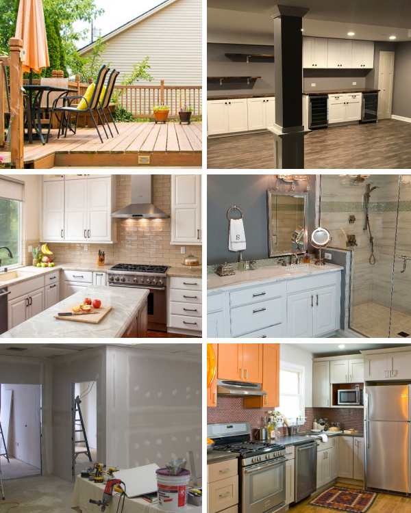 Before and After Home Improvements Collage
